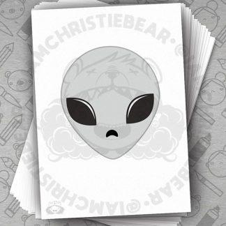 Alien Y Files Not XFiles Little Grey Man Print By ChristieBear