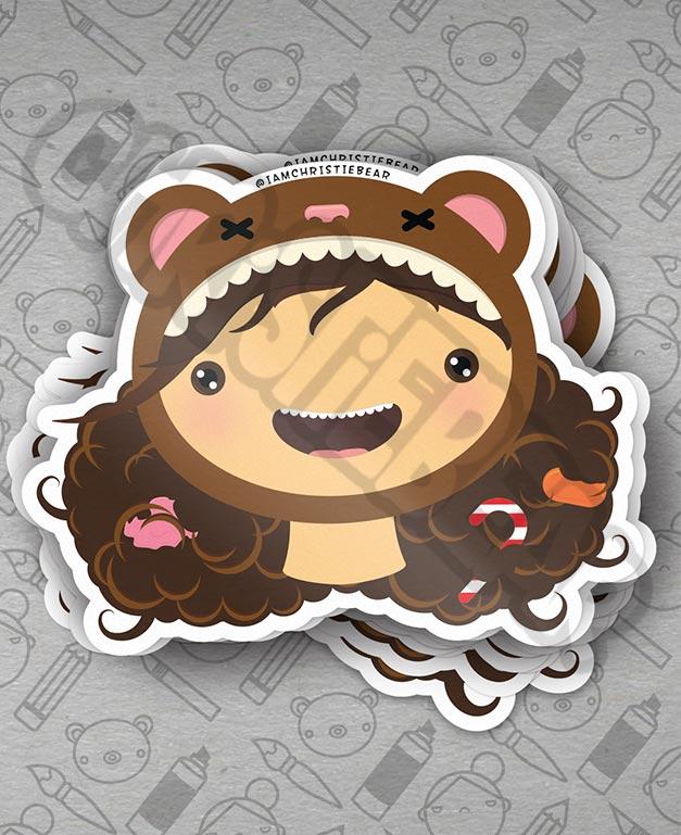 Candy Hair Sticker by ChristieBear