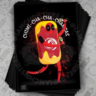 Deadpool dancing chimichanga suit Print By ChristieBear