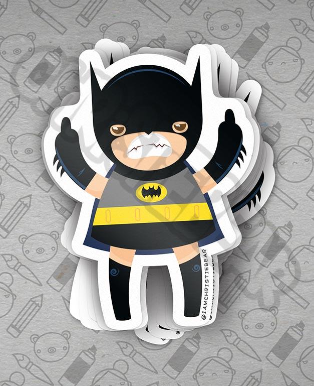 Eff You Girl Batgirl Sticker by ChristieBear