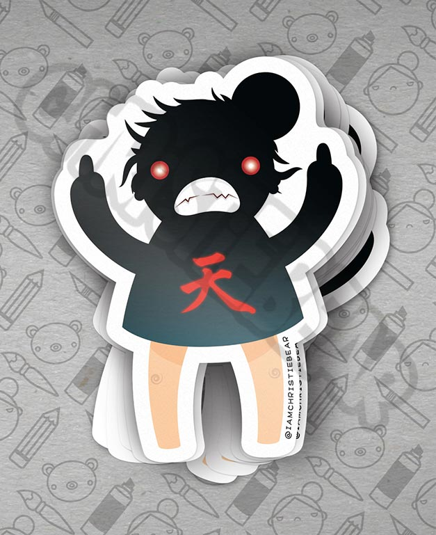 Eff You Girl DarkHado Sticker by ChristieBear