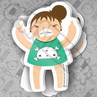 Eff You Girl Green Sticker by ChristieBear