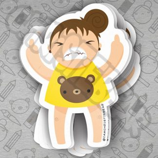 Eff You Girl Yellow Sticker by ChristieBear