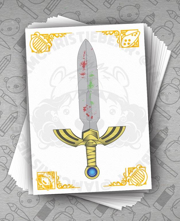 Legend Of Zelda Links Sword of Hyrule Master Sword Print By ChristieBear