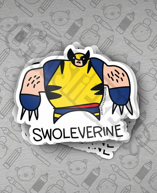 XMans Swoleverine Not XMen Wolverine Sticker By ChristieBear
