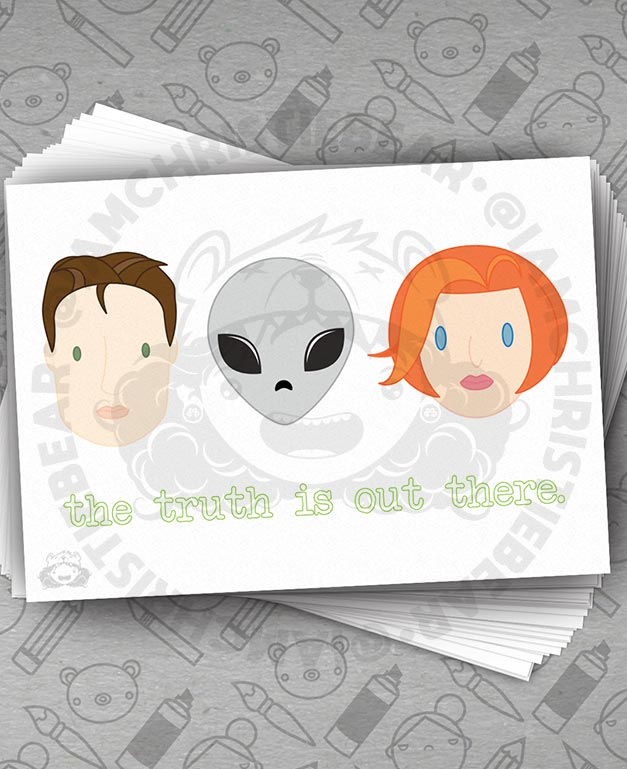 Y Files Full Group Truth White Print By ChristieBear