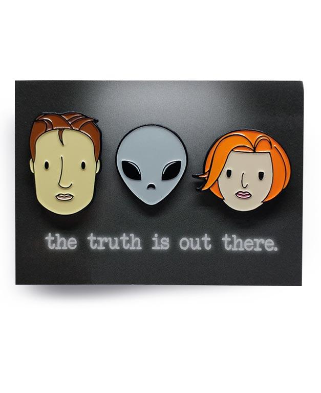 Y Files Not X Files Fullset Sculder Mully Alien Soft Enamel Pin by ChristieBear