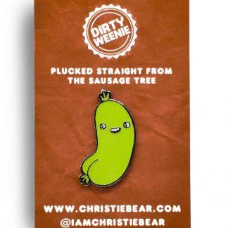 Dirty Weenie Veggie Edition Epoxy Enamel Pin by ChristieBear
