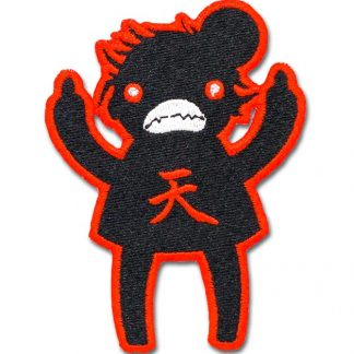Eff You Girl Dark Hado StreetFighter Angry Iron On Patch by ChristieBear