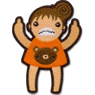 Eff You Girl Orange Angry Iron On Patch by ChristieBear