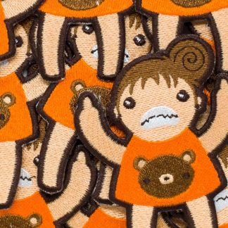Eff You Girl Orange Group Shot Angry Iron On Patch by ChristieBear