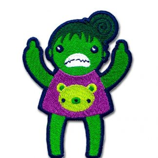 Eff You She Hulk Angry Iron On Patch by ChristieBear
