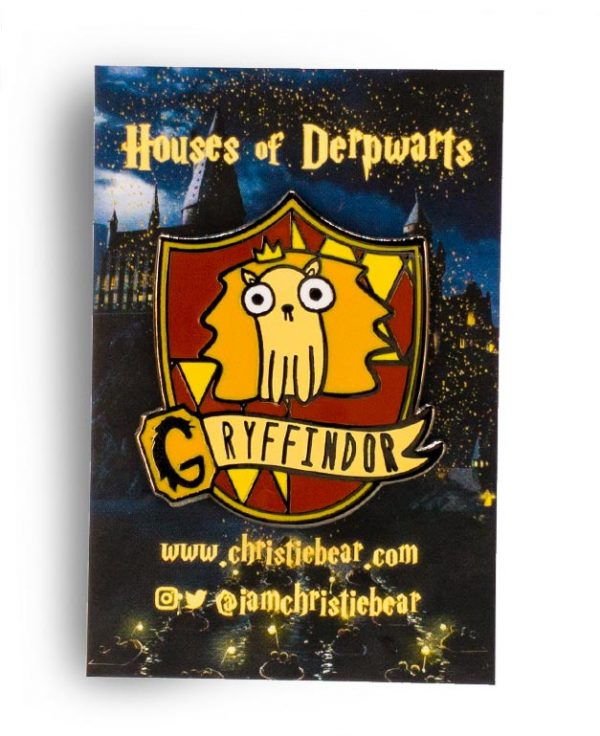 House of Derpwarts Gryffindor hard enamel pin by ChristieBear