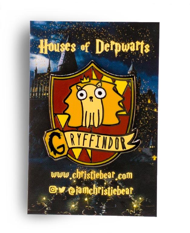 House of Derpwarts Gryffindor hard enamel pin by ChristieBear