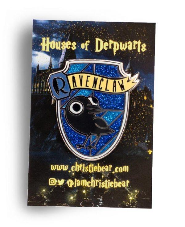 House of Derpwarts Ravenclaw Glitter hard enamel pin by ChristieBear