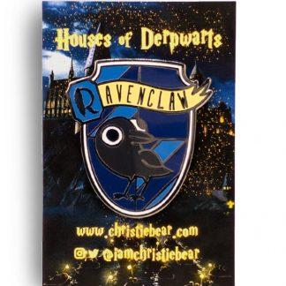 House of Derpwarts Ravenclaw hard enamel pin by ChristieBear