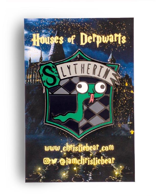 House of Derpwarts Slytherin hard enamel pin by ChristieBear